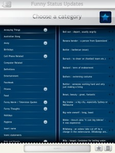 Funny Status Updates for Facebook by Erik G. Productions screenshot
